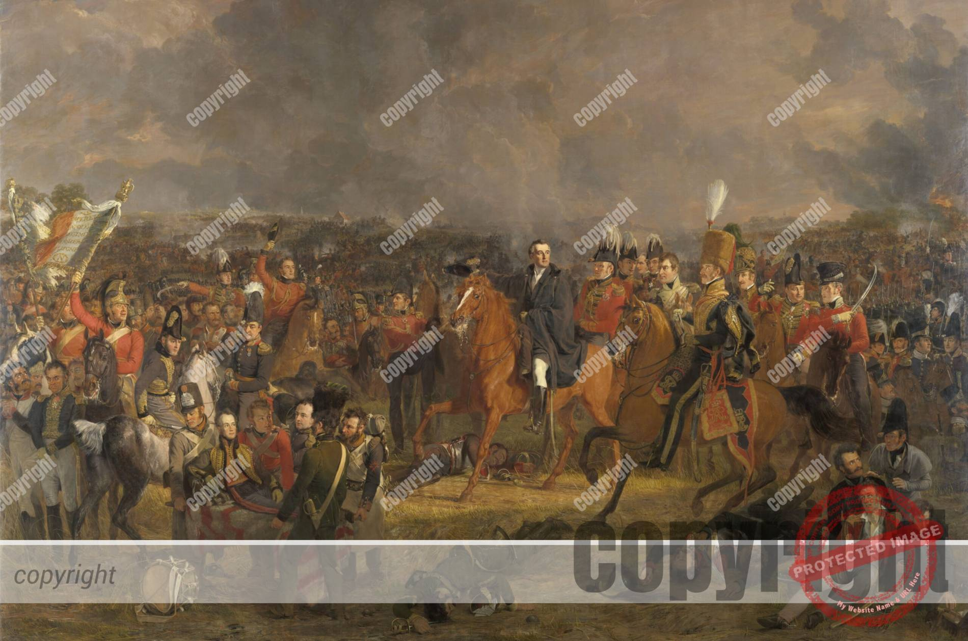 De Slag bij Waterloo (1824) –  Jan Willem Pieneman